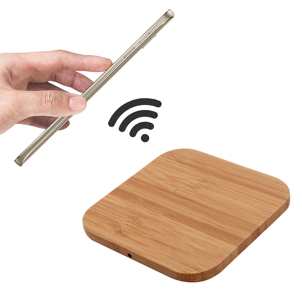 2018 hot sale Universal Fast Wooden Qi Wireless Charger