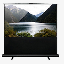 OEM 80 inch 4:3 portable projector screen floor standing screen
