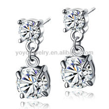 2016 Earring for Women with Shiny Crystal Wholesale in alibaba