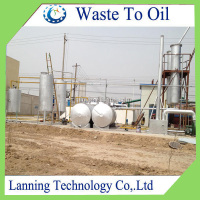 Small plant used engine oil to diesel distillation plant