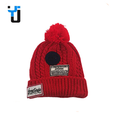 Soft Feel Pom Pom Knit Hat Funny Winter Ski Hat