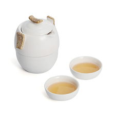 Hot Sale Black Pottery One Pot Two Cups Portable Travel Home Office Kung Fu Tea Set Chinese Travel Ceramic Tea Sets