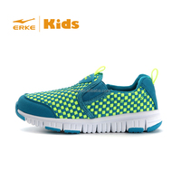 ERKE 2015 kid brand loafer shoes with fasion grid children slip on casual shoes 7-14 years for wholesale