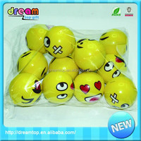 Lovely yellow funny shape color pu bulk stress balls