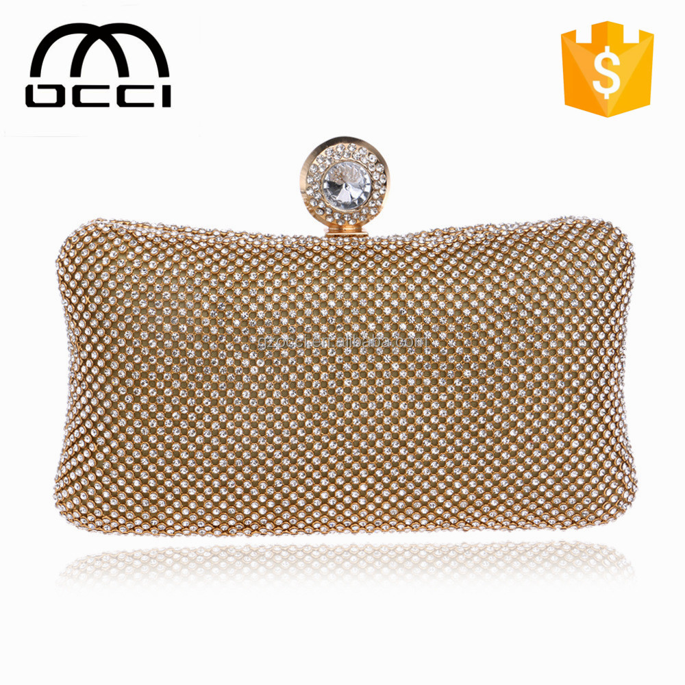 wholesale handbag china fashion guangzhou women evening clutch bags metal frame YM1499