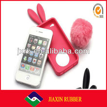 Rabbit shape silicone fancy cell phone covers