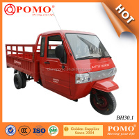 Mini Truck Cargo Tricycle With Closed Cabin Enclosed Cargo Tricycle Motorcycle with Steering Wheel