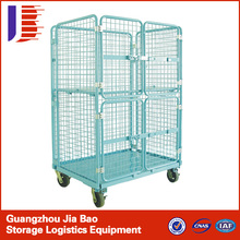 Industrial Transportation Moving Roller Container Wire Mesh Trolley/durable hand trolley carts