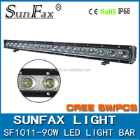 SUV,JEEP WRANGLER auto accessories 90w C REE led off road driving light bar for 4x4 4WD