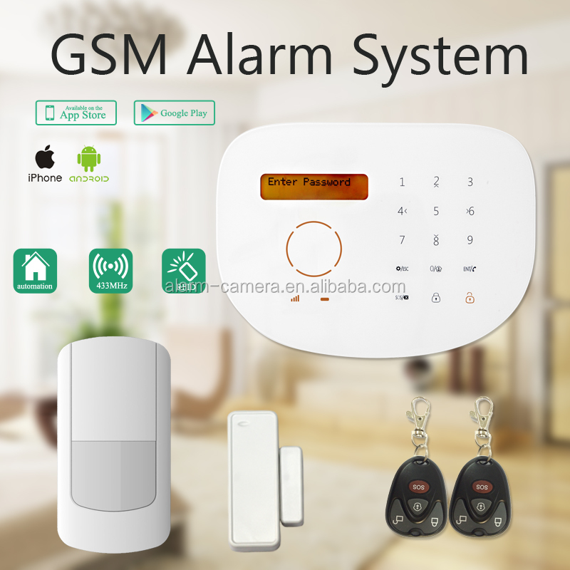 New cheap gsm wireless alarm system with $25 discount off than GSM+PSTN alarm,support app control