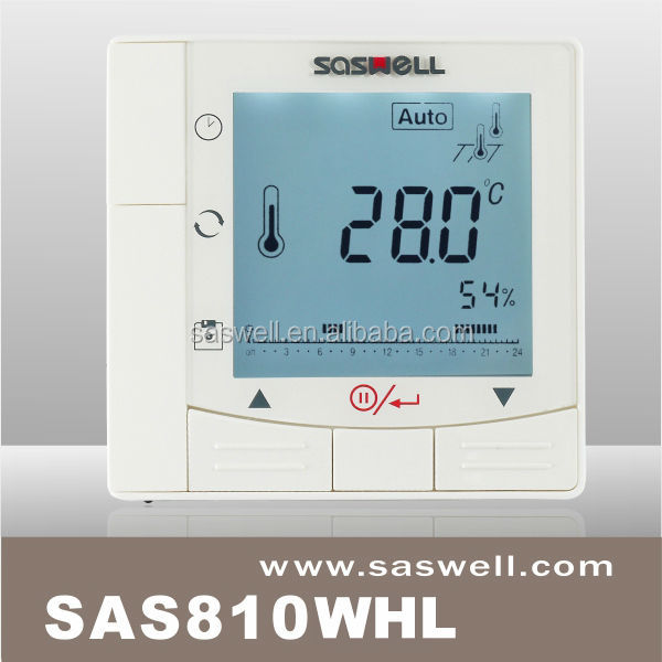 WIFI display 7 days programmable digital water heater room thermostat with blue backlight