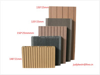 hollow and solid Eco and beautiful Slats WPC Wall and decking Panel