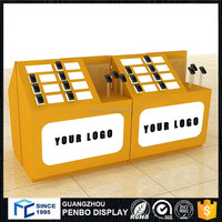 Customized MDF wooden retail store mobile phone display cabinet