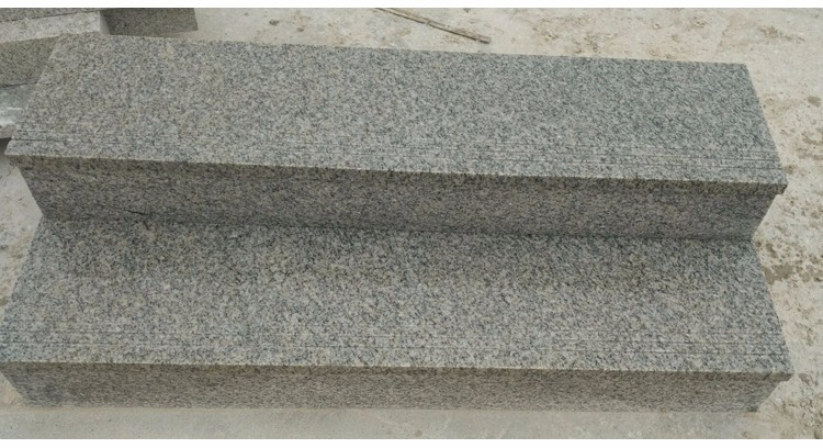 grey white granite tiles slabs steps risers stairs flamed processing G603 gray white color cut-to-size natural stone top quality