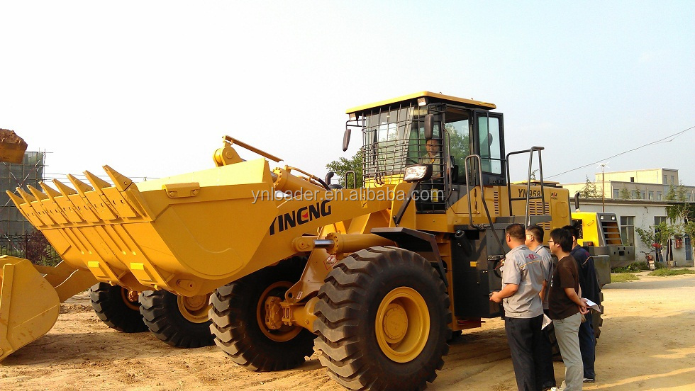 quick hitch 6ton ACOil filter 5tonSudanZL50 Yineng loader shan dongt engine YN wheel loader with grass grasper /clamp Shan dong
