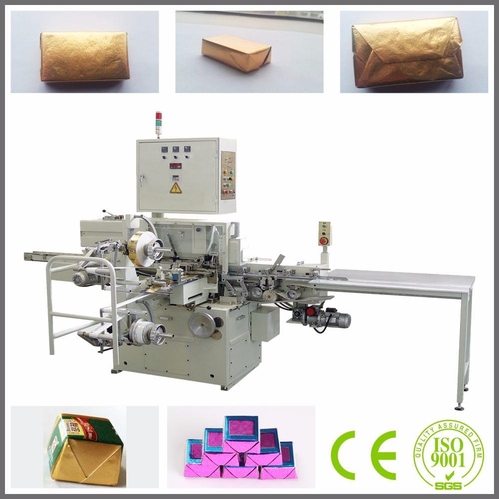 square chocolate wrapping machine, chocolate bar packing machine
