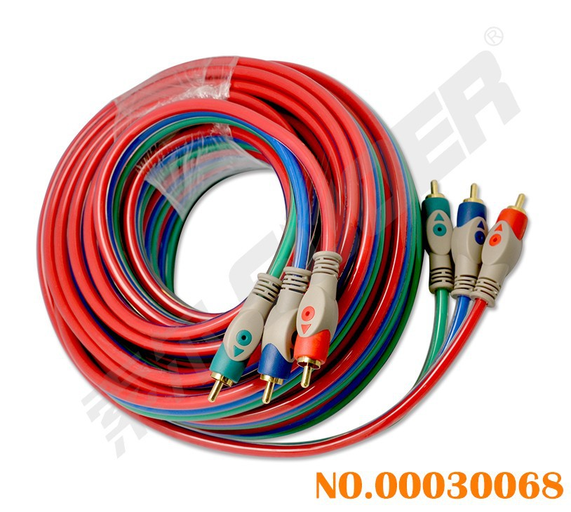Suoer Component Video Cable Male to Male 3 RCA to 3 RCA Cable 10m AV Cable