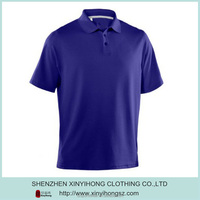 High quality pique cotton golf polo shirt with custom logo
