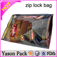 YASON barrier customize solid 3 side seal aluminum foil ziplock envelopes aluminum foil bag with ziplock small 1g ziplock bags