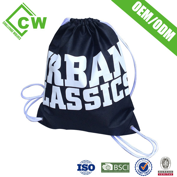 Top Grade Non Woven Drawstring Bag With Zipper Pocket For Cloth