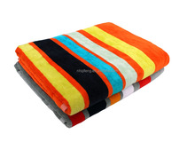Big size colorful dyed yarn velour strip cotton bath towel with Oeko-tex standard 100 certificate
