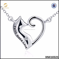 Cat Lover Jewelry Fashion Sterling Silver Cat Pendant Necklace