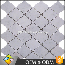 Moroccan Polished Lantern Kitchen Backsplash Marble Mosaic Wall Tile