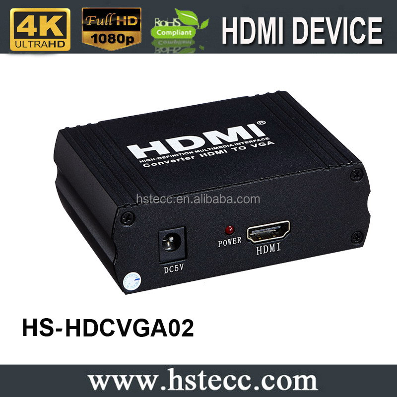 HDMI 1.4 b to VGA+R/L Converter with 5V / 1A Power Adapter