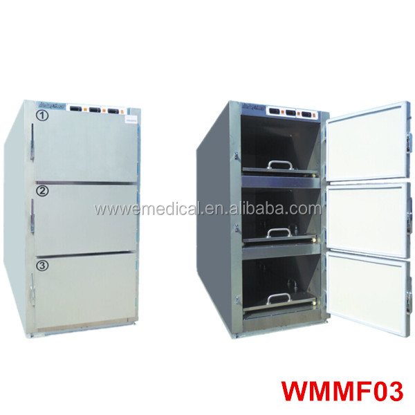 WMMF Hot sale 3 bodies mortuary refrigerator