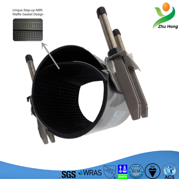 CR waste coupling for pvc pipe water coupling pipe leak repair clamp flexible coupling for pvc pipes