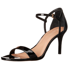 Women Hot Selling Fashion Sexy Shoes High Heel Black Patent Leather Wedding Shoes And Bag Set