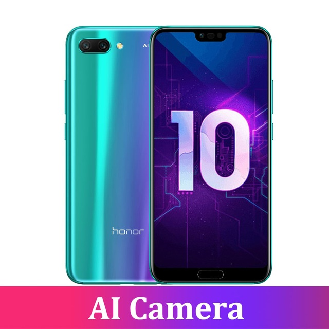 Huawei Honor 10 6G RAM 128G ROM Mobile <strong>Phone</strong> Full Screen 5.84 inch AI Camera 24.0MP <strong>android</strong> 8.1 Octa Core Smart <strong>phone</strong>