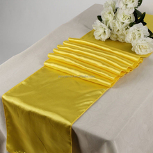 cheap wedding yellow satin table runners knitting pattern