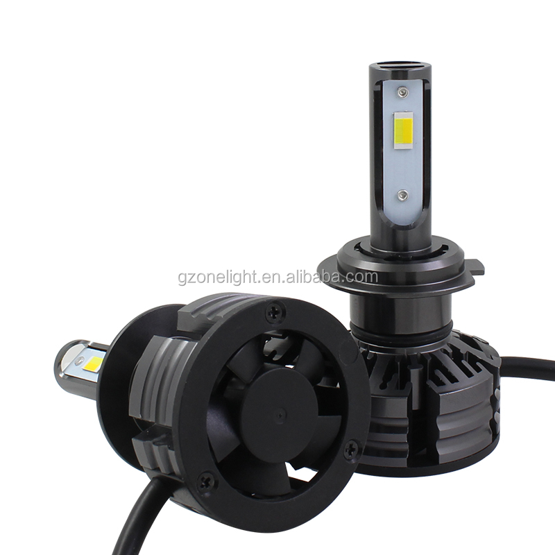 DIY X3 LED car headlight H4 with 50W 6000LM ZES chip led headlamp for auto
