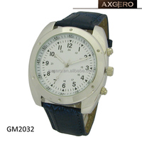Japan movement quartz genuine leather strap men's winner watch
