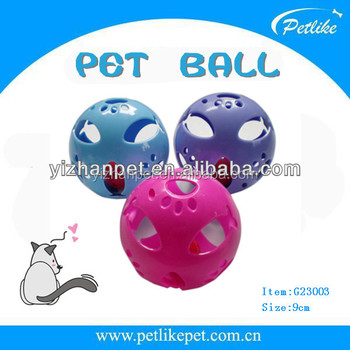 colorful plastic cat ball toys with bell inside