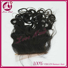 Natural color 100% stylish brazilian silk top closure ease of natural wave silk base great appraise lace closure china qingdao