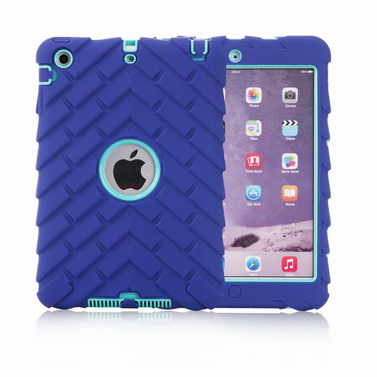 Heavy Duty Tough Shockproof Case Cover for Apple iPad mini 4 3 Tire Grain