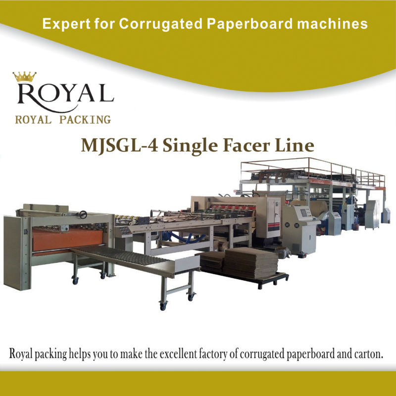 MJSGL-4 single facer line 2 layer corrugated cardboard production line