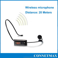 New FM Radio Wireless Head Microphone Speeker LED Display Mike Headset Microphone For Megaphone Voice Amplifier Loudspeaker