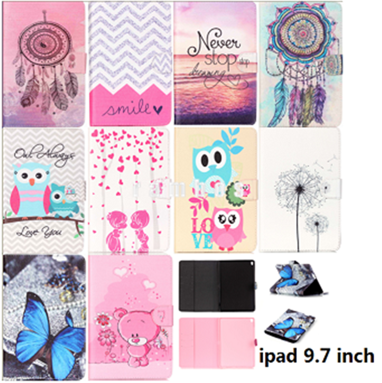 Unique Personalized Custom Tablet Case 9.7 inch Smart Cover Protective Shell for iPad Pro air 2 with Card Slots