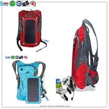 Hot sell Outdoor camping hiking style outdoor 40L PVC waterproof backpack,solar bag for mobile laptop camera charging JM-B006S17