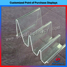 High-quality clear acrylic tabletop wallet display stand