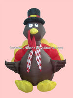 120cm high Halloween inflatable turkey
