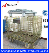 collapsible metal transport cage