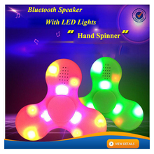 AWH111 New Design LED Hand Spinner with Bluetooth Speaker ABS Spinner Toy Fidget Spinner