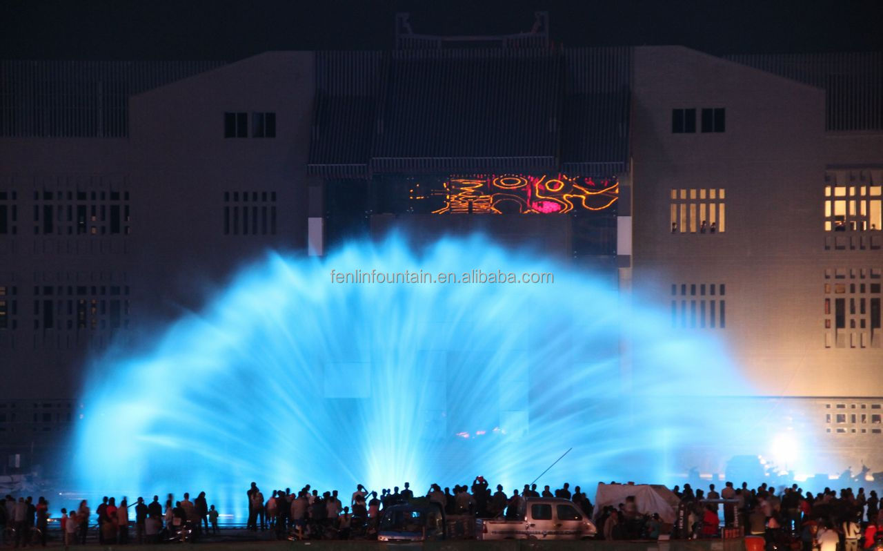 laser water screen movie mirage water works water curtain