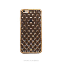 Crystal Clear Electroplate TPU Mobile phone case 3D Water Cube Cover For iphone6 4.7inch