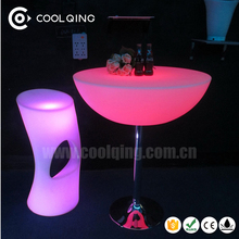 Modern Color Changing Mexican Restaurant Furniture LED with Rechargeable Battery and IR Remote Control