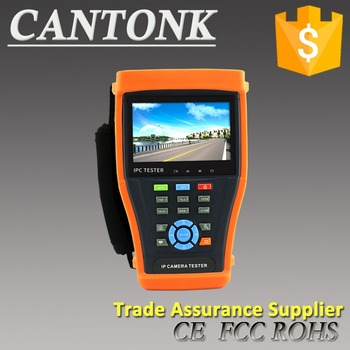 Cantonk full function tester 4.3 Inch WIFI touchscreen IP AHD CVI TVI Analog POE PTZ control HD CCTV Camera Tester monitor